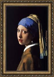 painting girl with a pearl earring johannes vermeer girl with a pearl earring framed painting for