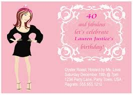 40th birthday invitation ideas 40th birthday invitations from