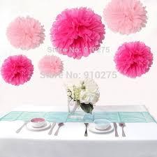 hot pink tissue paper free shipping 12pcs mixed 3 sizes pink hot pink tissue paper pom