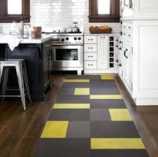 Yellow Runner Rug Kitchen Runner Rugs Contemporary Yellow Black Kitchen Runner Rug