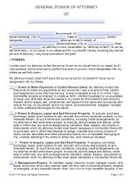 Power Of Attorney Form Template by Free Printable General Power Of Attorney Forms