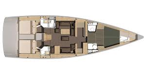Luxury Yacht Floor Plans by Exclusive 56 Dufour Yachts