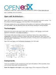 open edx open courseware development platform open edx