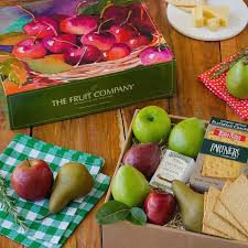 fruit gifts cheese pears and apples gift box the fruit company