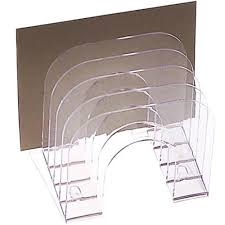 Eldon Desk Accessories by Eldon 6 Tier Jumbo Incline Sorter Clear Officeworks