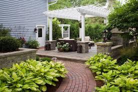 pergola stone bases patio traditional with brick pathway