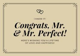 congrats wedding card brown simple wedding card templates by canva