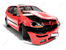 isolated crashed car stock photo picture and royalty free image
