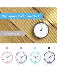 Suction Bathroom Mirror Savings On Waterproof Shower Suction Cup Clock Bathroom