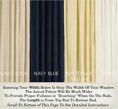 Top And Bottom Rod Curtains Door Curtains And French Door Curtains Custom Made In Any Size