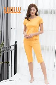 Bá ™ quần áo mặc nh Sunfly cá ™c tay quần lá ng SP1501 – VÆ°á n C Chua