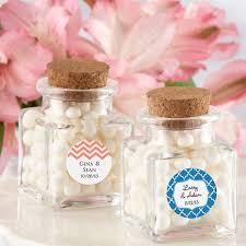 wedding favor jars square glass favor jar with cork stopper