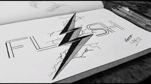 the flash lightning twist sketch speed art youtube