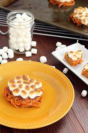 mini sweet potato casseroles with vegan marshmallows featuring