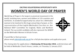 methodist prayer saturday 10 november 2016 world day of prayer mwib