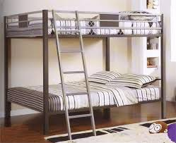 metal bunk bed with futon and side ladder installation a metal