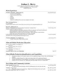 Resume Jobs Film by Resume Josh Berry Films