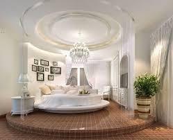 chambre avec lit rond le lit rond pour meubler la chambre à coucher d une ère