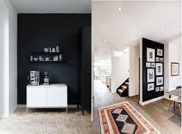 mur noir cuisine cuisine mur noir avec cuisine noir mat et bois photos de design d