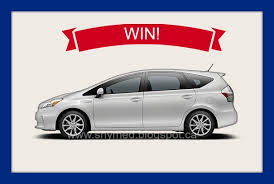 win a toyota prius win a toyota prius v car canada ends 6 28 2013 details