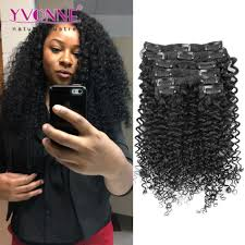 hair clip ins malaysian curly human hair clip in extensions