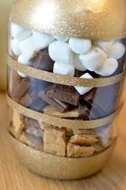 smores wedding favors s mores bars in diy glitter jars