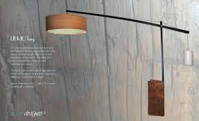 floor lamp overhanging floor lamp copper overhanging floor lamp