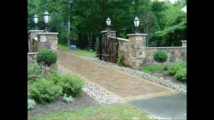 driveway home landscaping ideas youtube