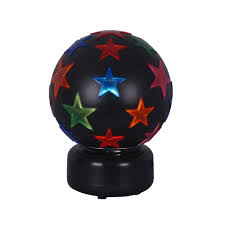 Rotating Disco Ball Light Alsy 11 In Multi Color Disco Ball 18102 001 000 The Home Depot
