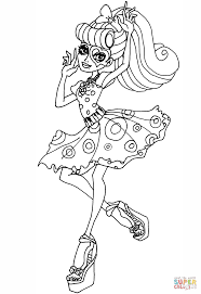 monster high operetta coloring page free printable coloring pages