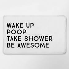 funny bathroom decor funny bath mat funny bathroom white