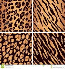 animal skin seamless pattern set set leopard stock vector image