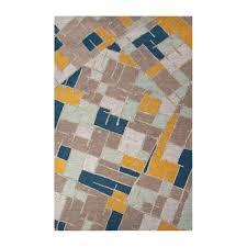 Modern Geometric Rugs Modern Geometric Big Cats Wool Area Rug Blue Multi 2 L X 3 W