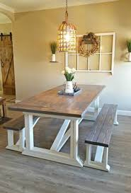 DIY Dining Table For Only  Diy Farmhouse Table Farmhouse - Dining room table bench