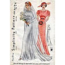 wedding dress sewing patterns vintage 1930s wedding dress sewing pattern wedding dress evening