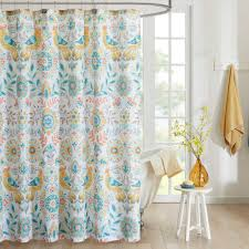 29 99 bed bath beyond intelligent design nina printed shower 29 99 bed bath beyond intelligent design nina printed shower curtain in yellow teal