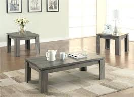 coffee table end table set 3 piece coffee and end tables weathered grey 3 piece coffee table