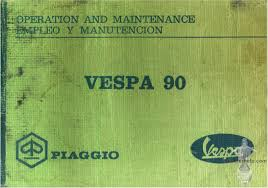vespa 90 owner u0027s manual