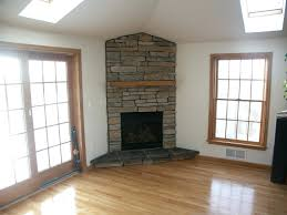 stand stone corner gas fireplace ideas latest trends white