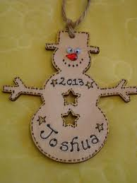 wooden snowman christmas tree hanger decoration shabby chic any