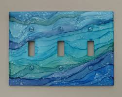 painted light switch covers blue ocean waves light switch covers painted with alcohol