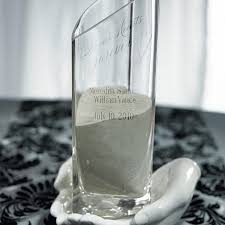 In Loving Memory Vase Personalized Heart Shaped Glass Memorial Vase With Loving Hands Base