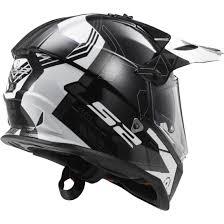 ls2 motocross helmets ls2 pioneer mx436 trigger black white titanium helmet motocard