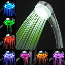 led 7 colors random changing hydroelectric generation shower
