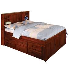 cherry wooden king size beds with drawers underneath plus high