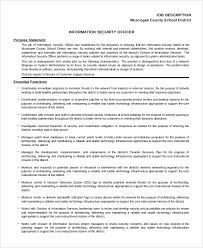 Security Job Description For Resume by Sample Security Officer Job Description 8 Examples In Pdf Word