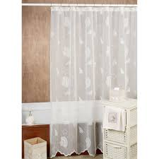 Bed Bath And Beyond Ruffle Shower Curtain - curtains decorate your bathroom with classy lace shower curtains