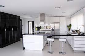 black and white kitchen decorating ideas architecture house modern white kitchen black decor decosee com