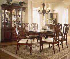 american drew cherry grove 45th oval leg table dining set stoney