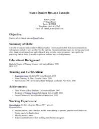 exle of rn resume nursing student resume objective resume for study